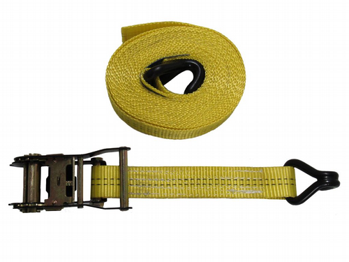 Yellow Ratchet Straps with Claw Hook